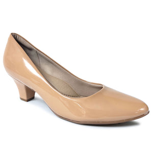Nude Patent Pumps for Women (703.001)