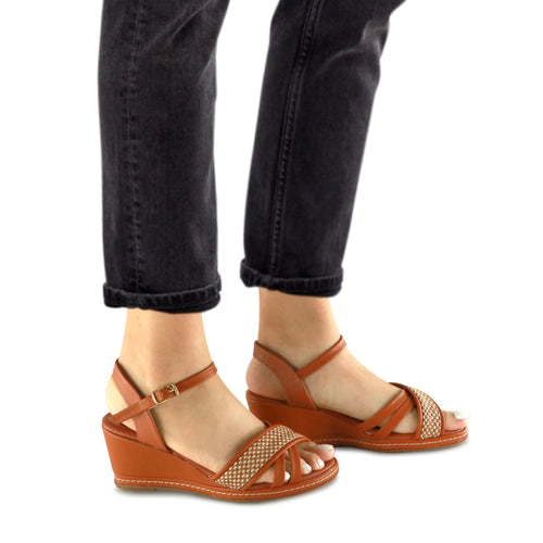 Beige Sandals for Women (408.129)