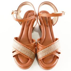 Beige Sandals for Women (408.129) - SIMPLY SHOES HONG KONG