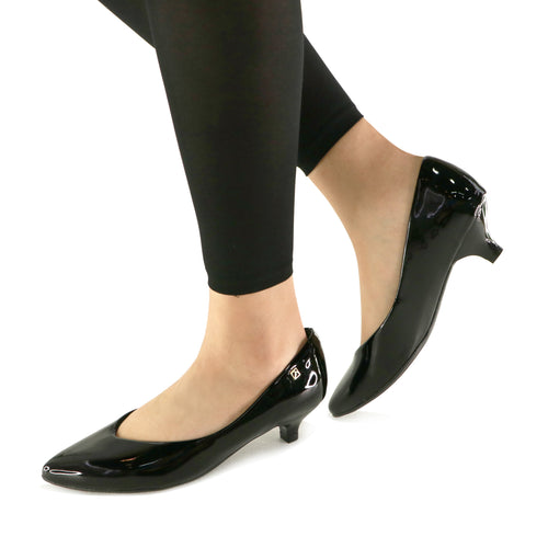 Black Patent Pumps for Women (275.006)