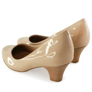 Light Nude Patent Pumps for Women (703.001) - SIMPLY SHOES HONG KONG