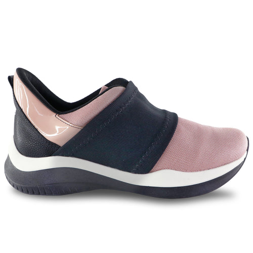 Rose/Black Plain Sneakers for Women (983.001) - SIMPLY SHOES HONG KONG