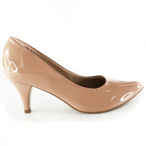 Nude Patent Heels for Women (745.035) - SIMPLY SHOES HONG KONG