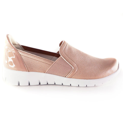Nude/Gold Sneakers for Women (970.023) - Simply Shoes Hong Kong