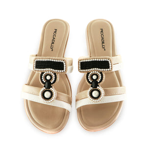 White/Beige Sandals for Women (401.207)