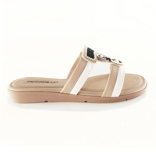 White/Beige Sandals for Women (401.207) - SIMPLY SHOES HONG KONG