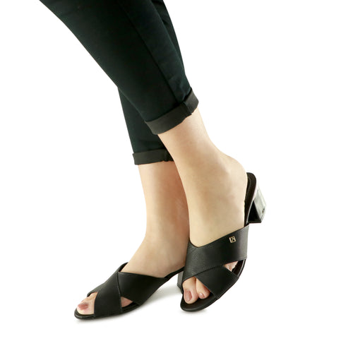 Black Sandals for Women (542.073) - SIMPLY SHOES HONG KONG