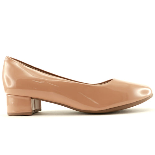 Nude Patent Pumps for Women (140.110) - SIMPLY SHOES HONG KONG