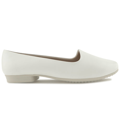 White Nappa Flats for Women (250.132) - SIMPLY SHOES HONG KONG