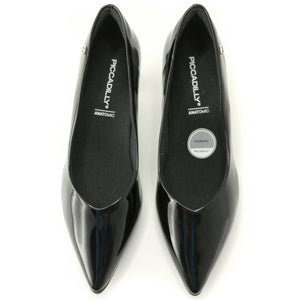 Black Patent Pumps for Women (119.001) - SIMPLY SHOES HONG KONG
