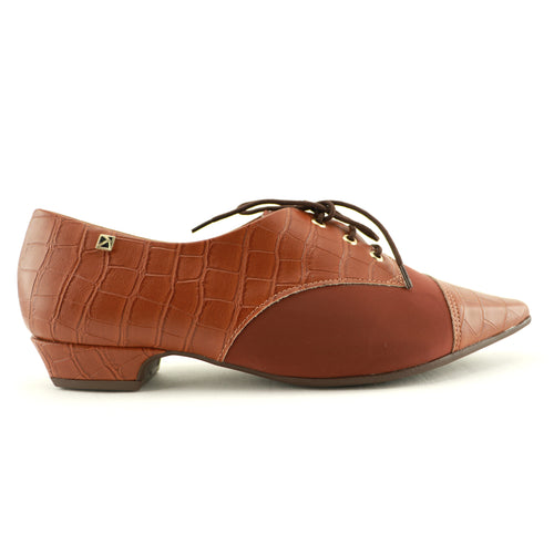 Coffee Lace-Up Flats for Women (278.019) - SIMPLY SHOES HONG KONG