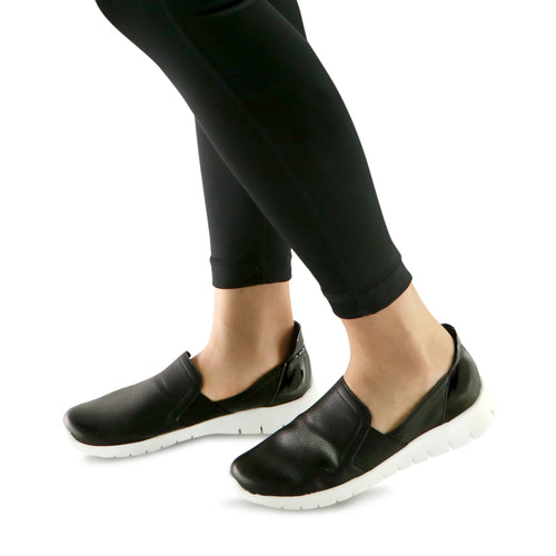 Black Casual Sneakers for Women (970.023) - SIMPLY SHOES HONG KONG
