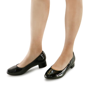 Black Patent Pumps for Women (140.110) - 2