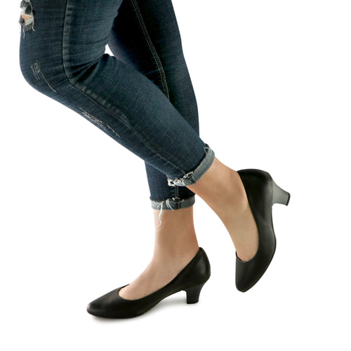 Black Napa Pumps for Women (703.001) - SIMPLY SHOES HONG KONG