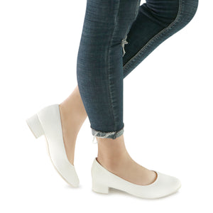 White Napa Pumps for Women (140.110)