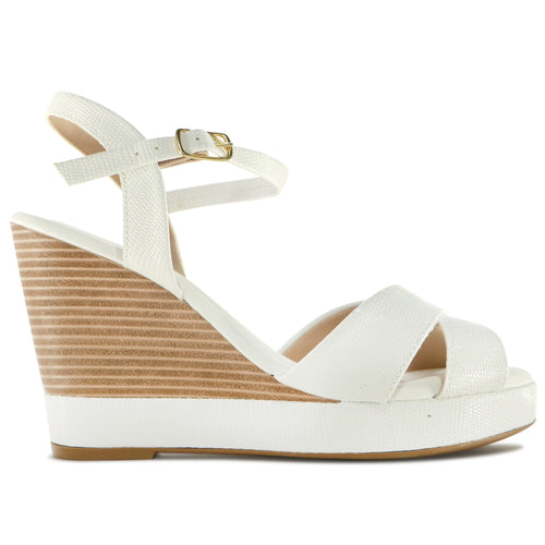 White Sandals for Women (810.083) - SIMPLY SHOES HONG KONG