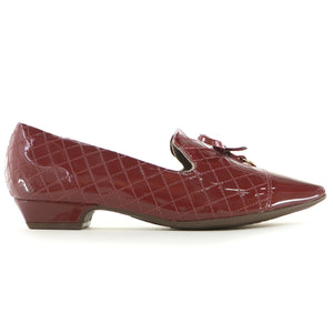 Red Pat Flats for Women (278.017) - SIMPLY SHOES HONG KONG