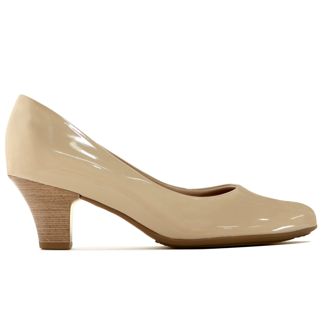 Light Nude Patent Pumps for Women (703.001)