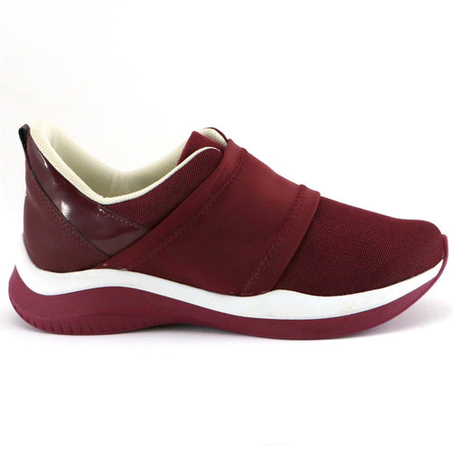 Burgundy Plain ENERGY Sneakers for Women (983.001) - Simply Shoes Hong Kong