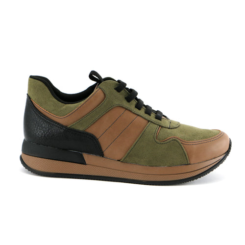 Brown/Green ENERGY Sneakers for Women (974.013) - SIMPLY SHOES HONG KONG