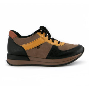Brown/Orange Laced ENERGY Sneakers for Women (974.015) - SIMPLY SHOES HONG KONG
