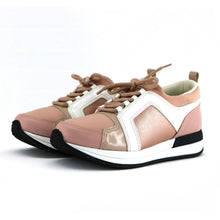 Rose/White Laced up ENERGY Sneakers for Women (974.016) - SIMPLY SHOES HONG KONG