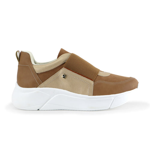 Brown Sneakers for Women (986.001) - Simply Shoes Hong Kong
