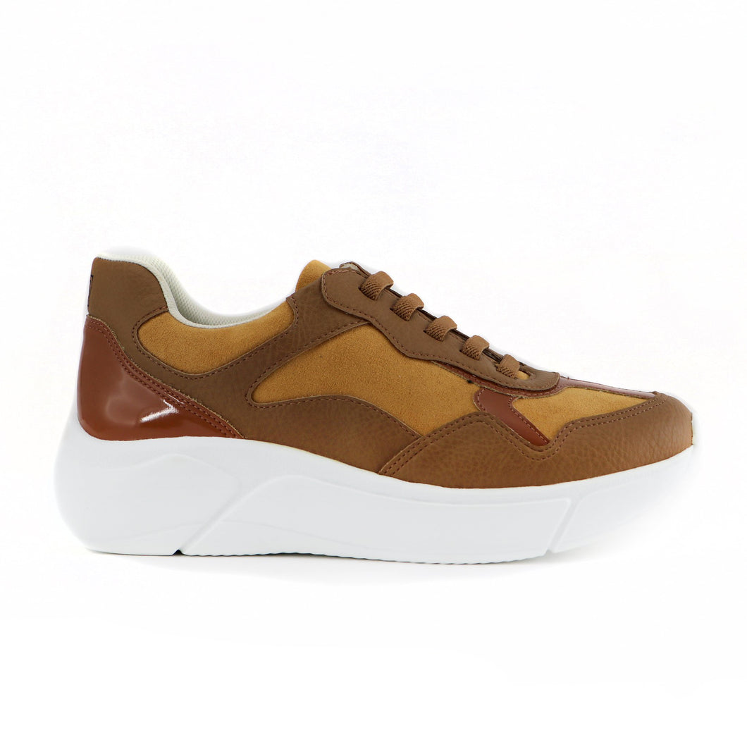 Brown Sneakers for Women (986.002) - SIMPLY SHOES HONG KONG