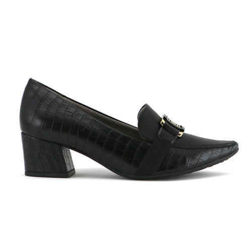 Black Croco Heels for Women (744.073)