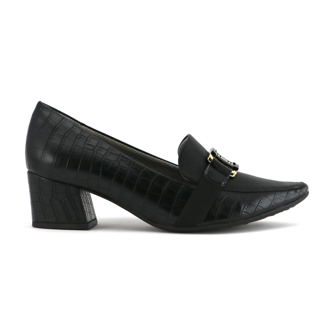 Black Croco Heels for Women (744.073) - SIMPLY SHOES HONG KONG