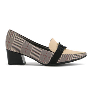 Checkered Shoes with Heels for Women (744.073)