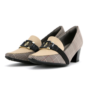 Checkered Shoes with Heels for Women (744.073) - SIMPLY SHOES HONG KONG