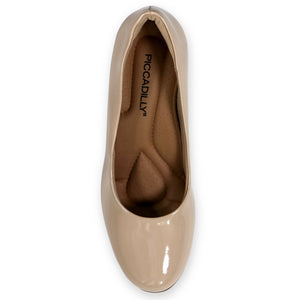 Varnish Ivory Patent Heels for Women (130.185) - SIMPLY SHOES HONG KONG