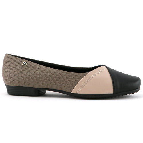 Nude Black Flats for Women (251.054)