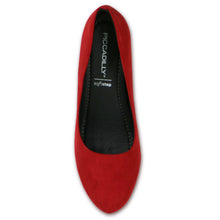 Red Microfibra Pumps for Women (693.001)