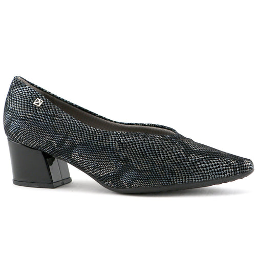 Black snake print flats for Women (744.072)