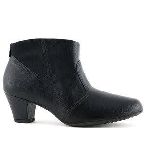 Black Relax Booties for Women (111.083) - SIMPLY SHOES HONG KONG