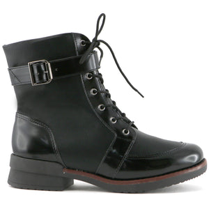 Black Lace Up Boots for Women (734.003) - SIMPLY SHOES HONG KONG