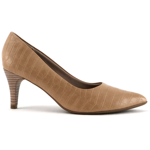 Nude Nappa Croco Pumps for Women (745.035)