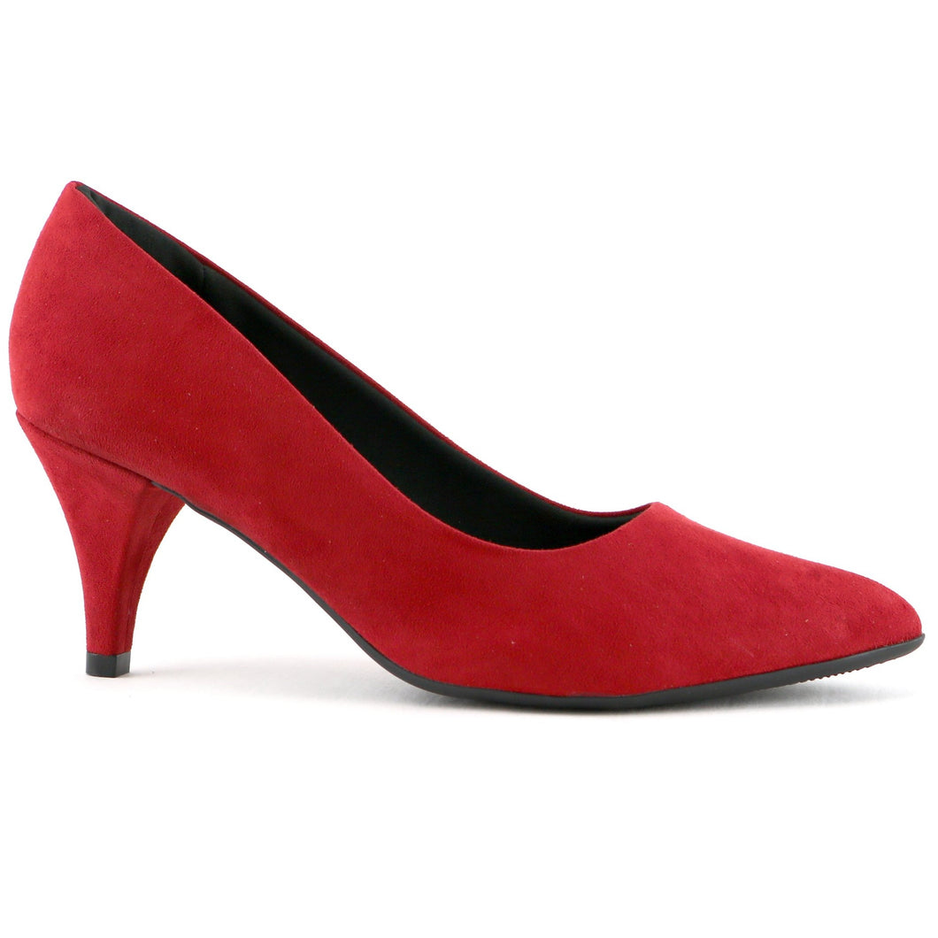 Red Microfibra Pumps for Women (745.035)