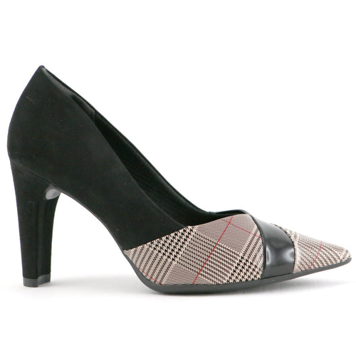 Ivory Black heels for Women (749.008)