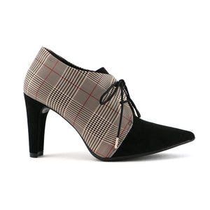 Pointy Chess Checkered Heels for Women (749.010)