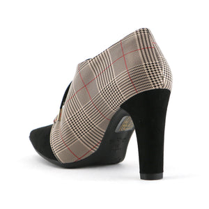 Pointy Chess Checkered Heels for Women (749.010) - SIMPLY SHOES HONG KONG