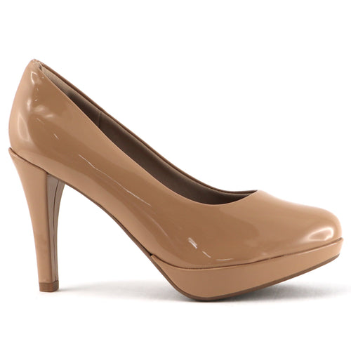 Nude patent pumps for Women (841.029) - SIMPLY SHOES HONG KONG