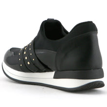 Black Sport Casual Sneakers for Women (974.014)