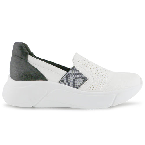 Black White Casual Sneaker for Women (986.007) - SIMPLY SHOES HONG KONG