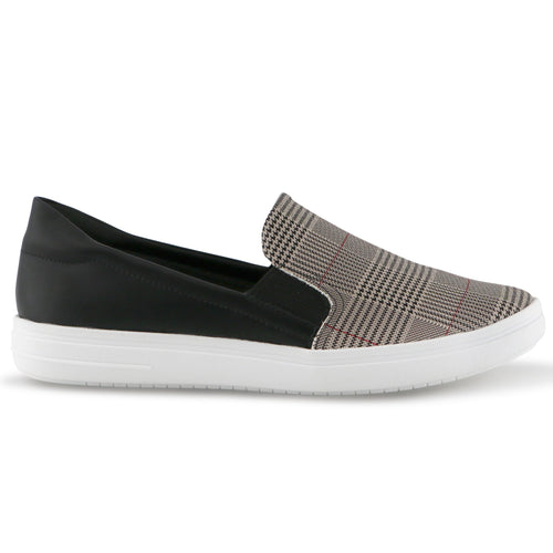 Black Checkers sneakers for Women (961.026) - Simply Shoes Hong Kong