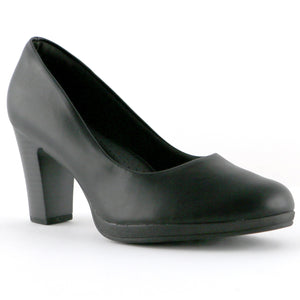 Black Nappa Heels for Women (130.185) - SIMPLY SHOES HONG KONG