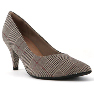 Checkered Pumps for Women (745.035)