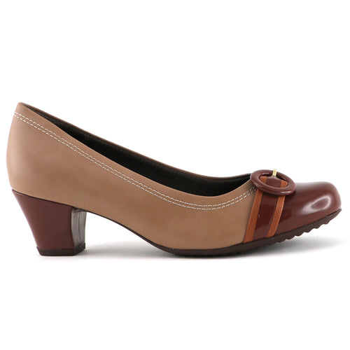 Nude Brown Blocked Heels for Women (111.088) - SIMPLY SHOES HONG KONG